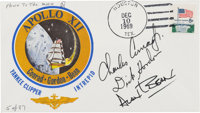 Apollo 15 Flown Crew-Signed Limited Edition Apollo 12 Cover Directly from the Family Collection of Apollo 12 Command Mod...