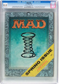 Magazines:Mad, MAD #28 (EC, 1956) CGC VF 8.0 Off-white to white pages....