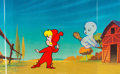 Animation Art:Production Cel, The New Casper Cartoon Show Casper and Wendy Production CelSetup (Harveytoons/Paramount, 1963). ...