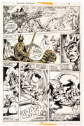 Original Comic Art:Panel Pages, Frank Brunner and Steve Leialoha Howard the Duck #1 StoryPage 15 Original Art (Marvel Comics, 1976)....