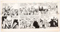 Dan Barry and Bob Fujitani Flash Gordon Sunday Strip Original Art dated 1-12-86  Comic Art