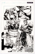 David Finch and Danny Miki Ultimatum #2 Story Page 10 Hawkeye and Yellowjacket O Comic Art