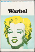 "Movie Posters:Miscellaneous, Marilyn Monroe by Andy Warhol (Tate Gallery, 1971). British ArtGallery Poster (20"" X 30""). Miscellaneous.. ..."