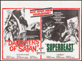 "Movie Posters:Horror, Daughters of Satan/Superbeast Combo (United Artists, 1972). British Quad (30"" X 40""). Horror.. ..."