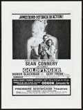 "Movie Posters:James Bond, Goldfinger (United Artists, 1964). World Charity Premiere BritishTrade Ad (8"" X 11""). James Bond.. ..."