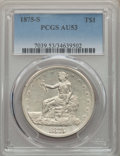 Trade Dollars, 1875-S T$1 AU53 PCGS. PCGS Population: (42/1192). NGC Census:(14/903). AU53. Mintage 4,487,000. . From The E.B. Strick...