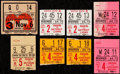 Football Collectibles:Tickets, 1955-57 Green Bay Packers Ticket Stubs Lot of 8 - Including Pair from 2nd Game at New City Stadium (Lambeau Field)!...