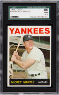 Baseball Cards:Singles (1960-1969), 1964 Topps Mickey Mantle #50 SGC 86 NM+ 7.5....
