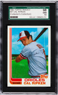Baseball Cards:Singles (1970-Now), 1982 Topps Traded Cal Ripken, Jr. Rookie #98T SGC 98 Gem 1...