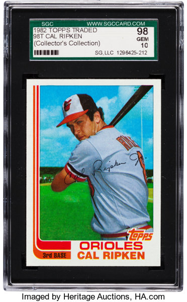 1982 Topps Traded Cal Ripken Jr Rookie 98t Sgc 98 Gem 10 Pop