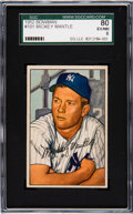 Baseball Cards:Singles (1950-1959), 1952 Bowman Mickey Mantle #101 SGC 80 EX/NM 6. The...
