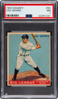 Baseball Cards:Singles (1930-1939), 1933 Goudey Lou Gehrig #92 PSA NM 7. Today, ju...