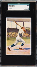 Baseball Cards:Singles (1970-Now), 1932 Sanella Margarine - Type 2 Babe Ruth SGC 86 NM+ 7.5 -...