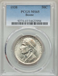 Commemorative Silver, 1938 50C Boone MS65 PCGS. PCGS Population: (319/201). NGC Census: (201/94). CDN: $405 Whsle. Bid for problem-free NGC/PCGS ...