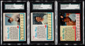 Baseball Cards:Lots, 1962 Post Cereal SGC Graded Trio (3) - Mantle, Maris & Mays. ....