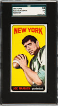 Football Cards:Singles (1960-1969), 1965 Topps Joe Namath #122 SGC 84 NM 7....