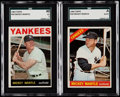 Baseball Cards:Lots, 1964 & 1966 Topps Mickey Mantle SGC Graded Pair (2).. ...