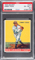 Baseball Cards:Singles (1930-1939), 1933 Goudey Jimmy Foxx #154 PSA EX-MT+ 6.5. The sa...