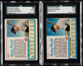 Baseball Cards:Lots, 1962 Post Cereal Mickey Mantle SGC Graded Pair (2).. ...