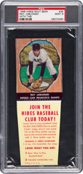 Baseball Cards:Singles (1950-1959), 1958 Hires Root Beer Ray Jablonski #35 PSA Mint 9 - Pop One, NoneHigher! ...