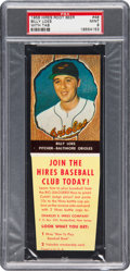 Baseball Cards:Singles (1950-1959), 1958 Hires Root Beer Billy Loes #48 PSA Mint 9 - None Higher. ...