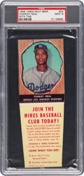 Baseball Cards:Singles (1950-1959), 1958 Hires Root Beer Charley Neal #54 PSA Mint 9 - Pop One...