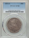 Seated Half Dollars, 1876-S 50C XF40 PCGS. PCGS Population: (28/289). NGC Census: (11/185). XF40. Mintage 4,528,000. . From The E.B. Strickl...