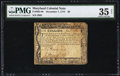 Colonial Notes:Maryland, Maryland December 7, 1775 $6 PMG Choice Very Fine 35 Net.. ...
