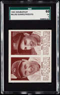 Baseball Cards:Singles (1940-1949), 1941 Double Play Lefty Gomez/Phil Rizzuto #61-62 SGC 60 EX 5.. ...