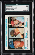 Baseball Cards:Singles (1970-Now), 1973 Topps Mike Schmidt - Rookie 3rd Basemen #615 SGC 60 EX 5.. ...