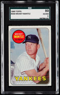 Baseball Cards:Singles (1960-1969), 1969 Topps Mickey Mantle (Yellow Name) #500 SGC 80 EX/NM 6.. ...