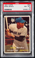 Baseball Cards:Singles (1950-1959), 1957 Topps Ernie Banks #55 PSA NM-MT 8.. ...