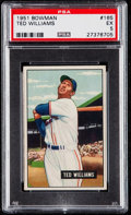 Baseball Cards:Singles (1950-1959), 1951 Bowman Ted Williams #165 PSA EX 5.. ...