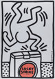 Keith Haring (American, 1958-1990) Lucky Strike (white), poster, 1987 Offset lithograph on smooth wove paper 39-1/2 x...