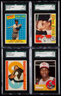 Baseball Cards:Lots, 1958-63 Topps Baseball Stars & HoFers SGC Graded Quartet (4).....