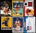Basketball Cards:Lots, 1989-2010 Basketball & Football Signed Quartet Plus Two Others - Includes Dwyane Wade, Y.A. Tittle, & More. . ...