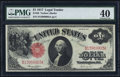 Large Size:Legal Tender Notes, Fr. 36 $1 1917 Legal Tender PMG Extremely Fine 40.. ...