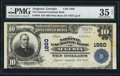 National Bank Notes:Georgia, Augusta, GA - $10 1902 Plain Back Fr. 628 The National Exchange Bank Ch. # 1860. ...