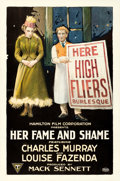 "Movie Posters:Comedy, Her Fame and Shame (Triangle-Keystone, 1917). One Sheet (27"" X41"").. ..."