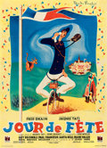 """Movie Posters:Foreign, Jour de Fete (DisCina, 1949). Full-Bleed French Moyenne (22.75"""" X 31.5"""") Rene Peron Artwork.. ..."""