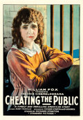 "Movie Posters:Drama, Cheating the Public (Fox, 1918). One Sheet (28.25"" X 40.75"").. ..."