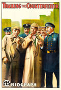 """Movie Posters:Comedy, Trailing the Counterfeiter (Biograph Studios, 1911). One Sheet(27.75"""" X 41"""").. ..."""