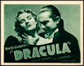 """Movie Posters:Horror, Dracula (Universal, R-1938). Title Lobby Card (11"""" X 14"""").. ..."""