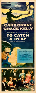 """Movie Posters:Hitchcock, To Catch a Thief (Paramount, 1955). Insert (14"""" X 36"""").. ..."""