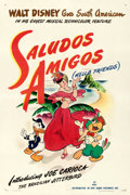 "Movie Posters:Animation, Saludos Amigos (RKO, 1942). One Sheet (27"" X 41"").. ..."
