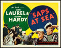"Movie Posters:Comedy, Saps at Sea (United Artists, 1940). Title Lobby Card (11"" X 14"")....."