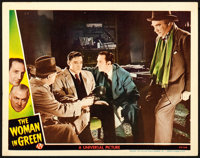 "The Woman in Green (Universal, 1945). Lobby Card (11"" X 14"")"