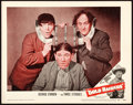 "Movie Posters:Comedy, The Three Stooges in Gold Raiders (United Artists, 1951). LobbyCard (11"" X 14"").. ..."