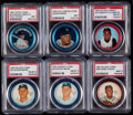 Baseball Cards:Lots, 1962-65 Salada Coins, Topps Coins & Old London Coins Collection(27).. ...