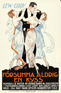 "Movie Posters:Drama, The Butterfly Man (Robertson-Cole, 1922). Swedish One Sheet (23"" X 35.25"").. ..."